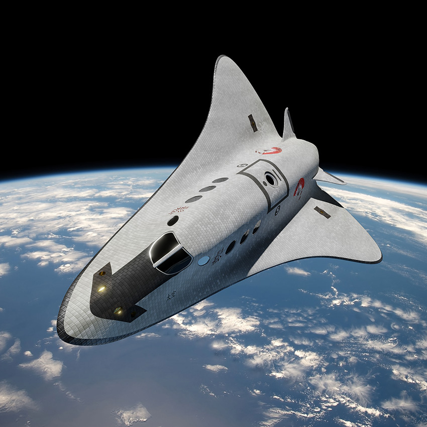 Cruise shuttle in low earth orbit (from Space Technology - Low Earth Orbit)